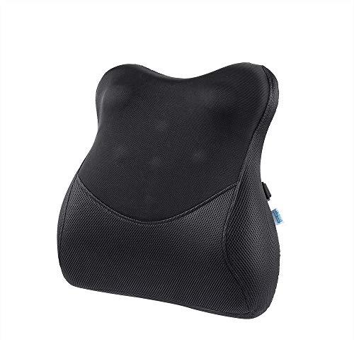 IKSTAR 低反発クッション ランバーサポート 改良された新世代 RoHS安全基準クリア オフィス 椅子 車用 腰枕 腰楽 リラックスクッション 取付バンド調節可能 カバー洗える