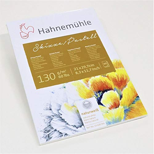 Skizze/Pastell-Block 100% Hadern 130g/m², DIN A4, 30Blatt