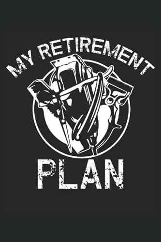 Il mio piano pensionistico: Taccuino a forbice |. Taccuino per parrucchiere |. Hairstyle Journal |. Taccuino barbiere |. Notebook di cosmetologo.