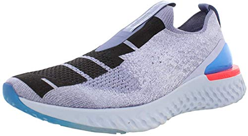 Nike Men's Epic Phantom React Flyknit JDI Running Shoes (Indigo Fog/Black-Ghost, 11)