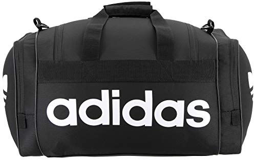 adidas Originals Unisex Santiago Duffel Bag, Black/White, ONE SIZE