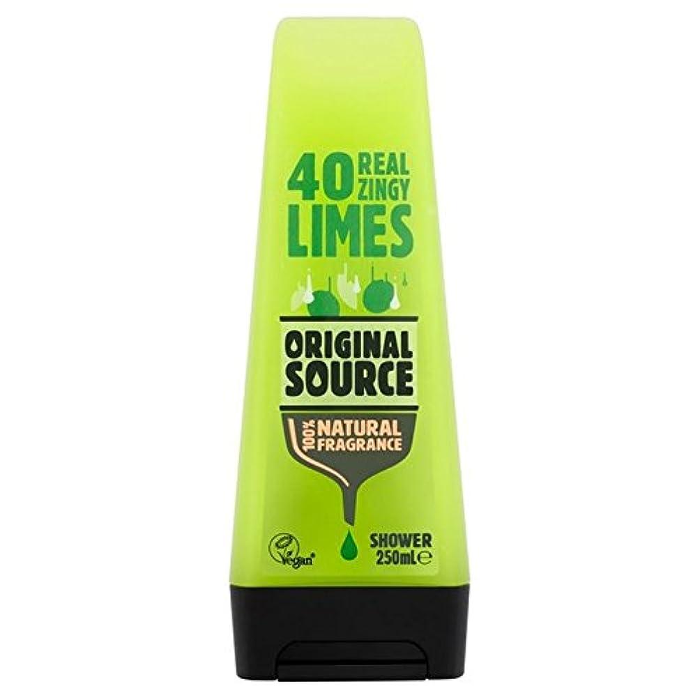 モートドライバ最適Original Source Lime Shower Gel 250ml (Pack of 6) - 元のソースライムシャワージェル250ミリリットル x6 [並行輸入品]