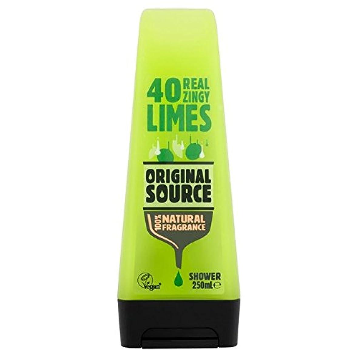 法律により写真のスピーカーOriginal Source Lime Shower Gel 250ml - 元のソースライムシャワージェル250ミリリットル [並行輸入品]