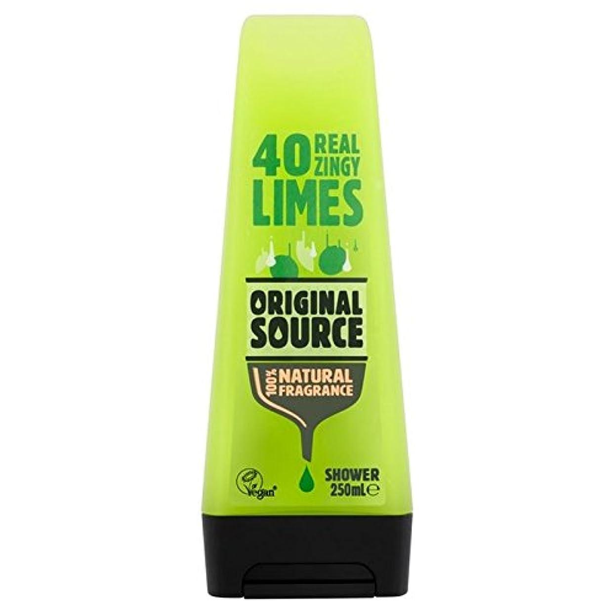 前置詞駅キャップ元のソースライムシャワージェル250ミリリットル x2 - Original Source Lime Shower Gel 250ml (Pack of 2) [並行輸入品]