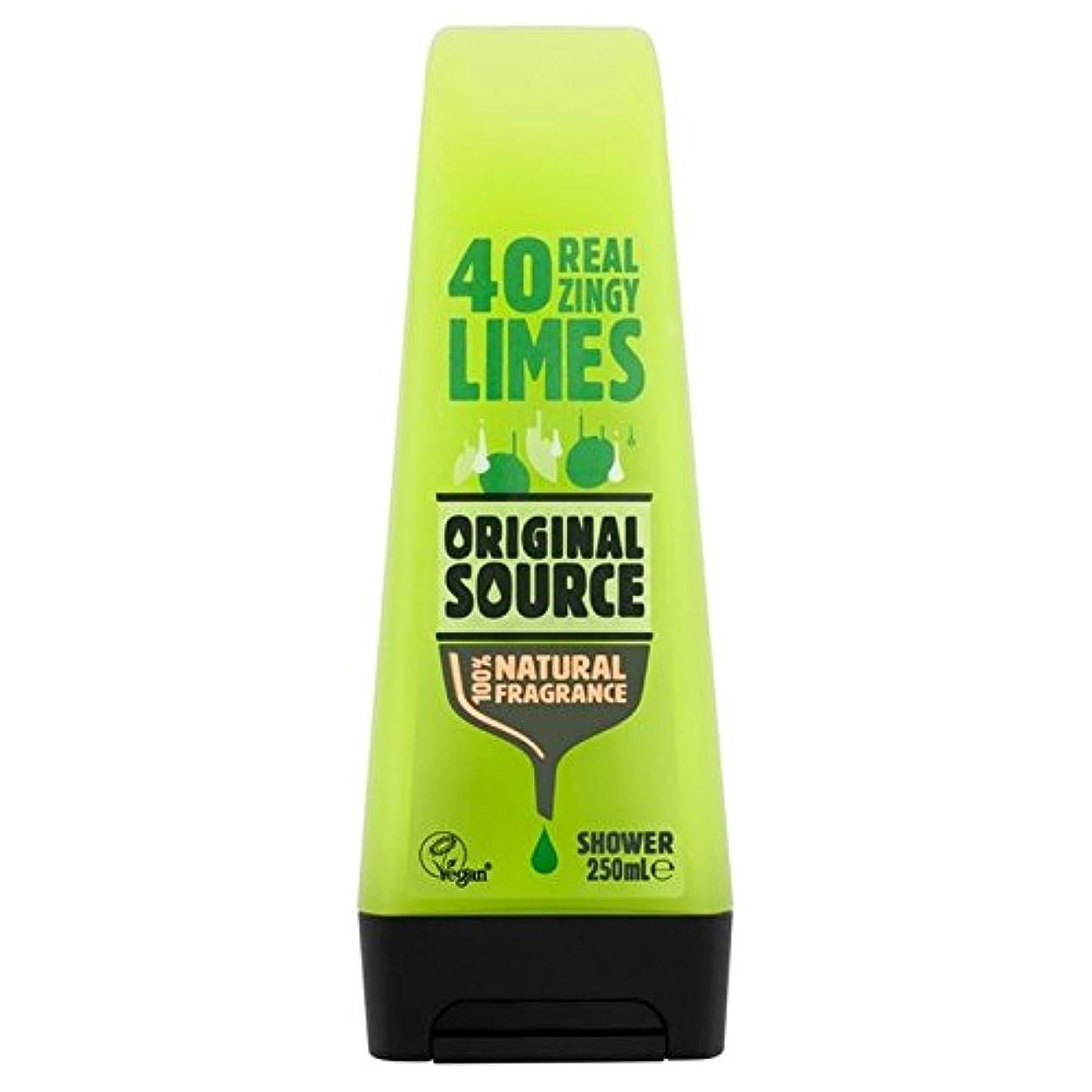郡鳩寛容元のソースライムシャワージェル250ミリリットル x2 - Original Source Lime Shower Gel 250ml (Pack of 2) [並行輸入品]