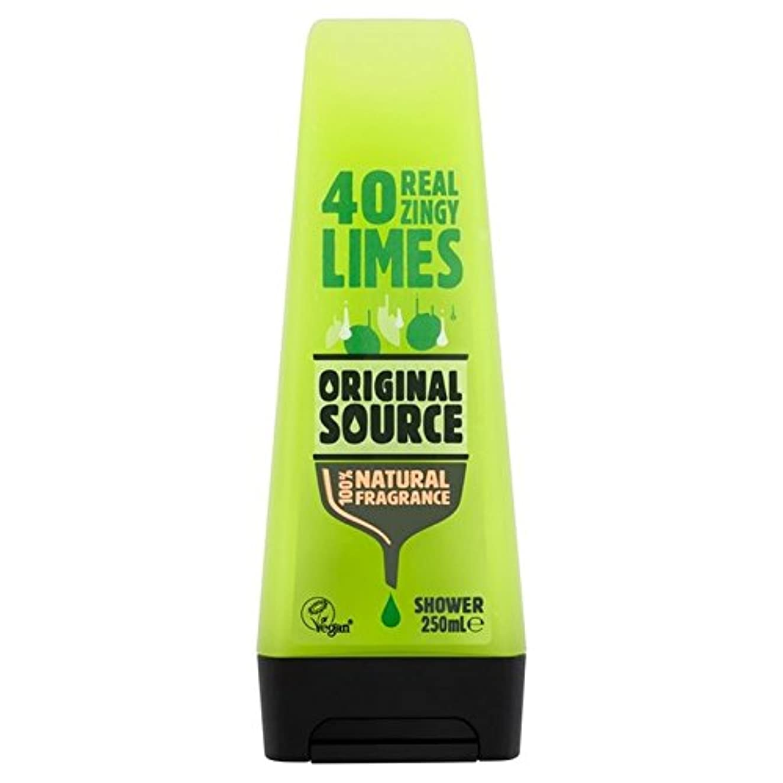 浸透する維持するターミナル元のソースライムシャワージェル250ミリリットル x2 - Original Source Lime Shower Gel 250ml (Pack of 2) [並行輸入品]