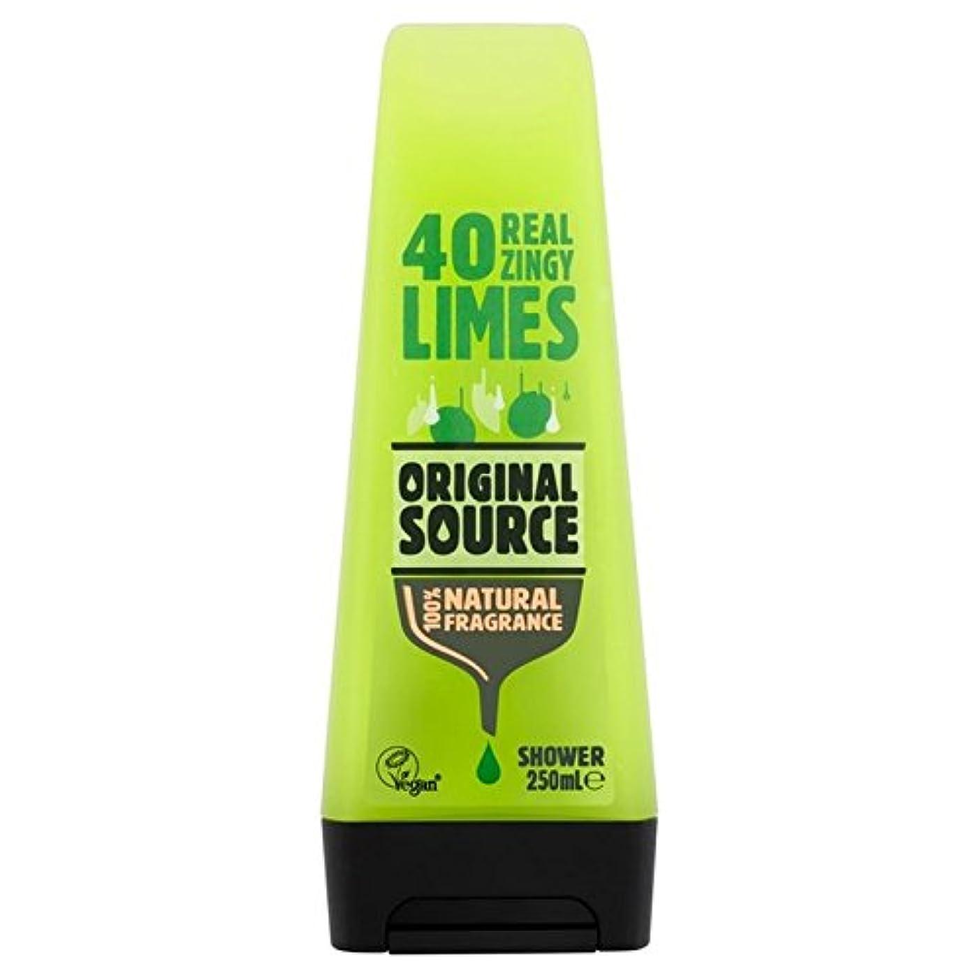 支配する穀物ビリー元のソースライムシャワージェル250ミリリットル x4 - Original Source Lime Shower Gel 250ml (Pack of 4) [並行輸入品]
