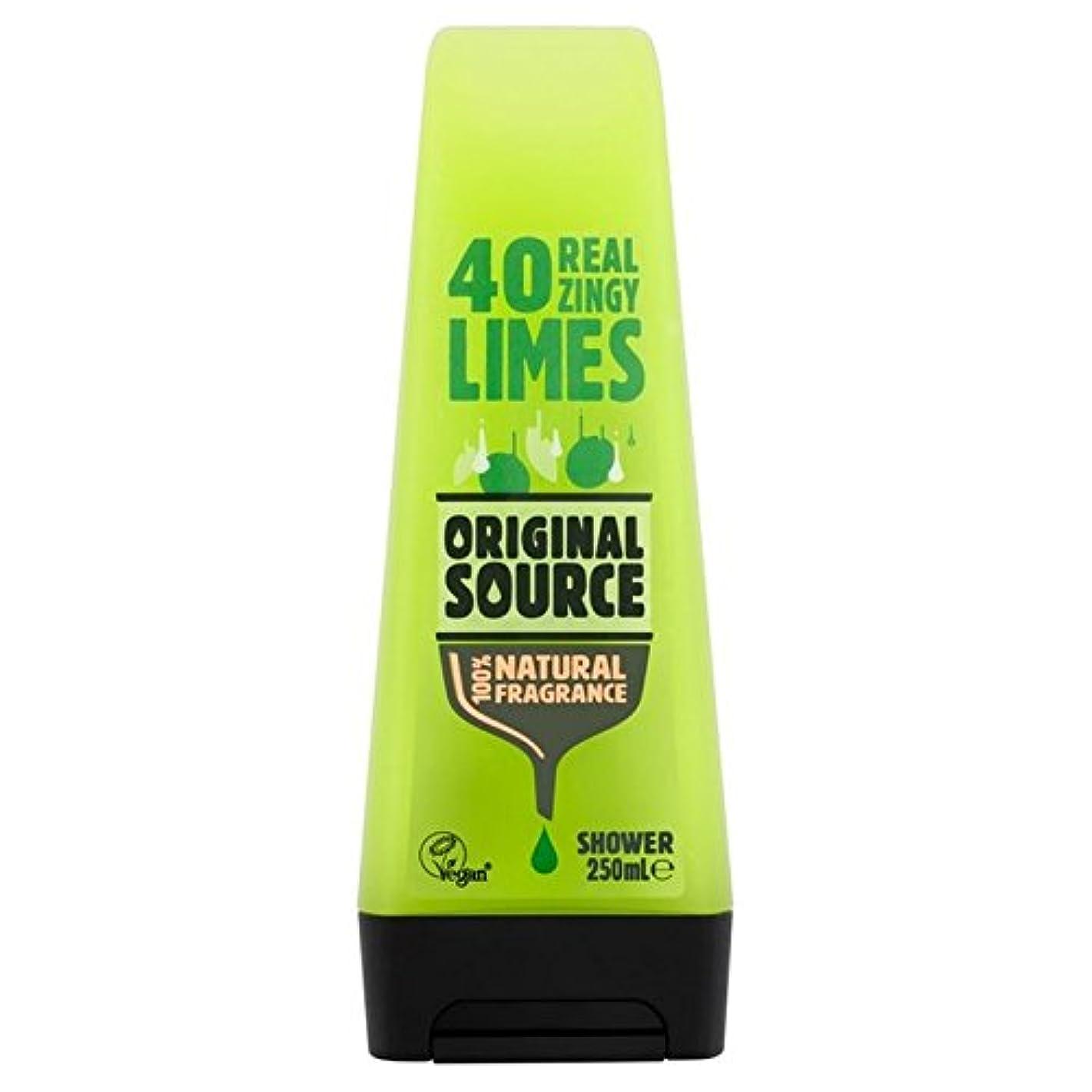 発火するストレンジャー換気する元のソースライムシャワージェル250ミリリットル x4 - Original Source Lime Shower Gel 250ml (Pack of 4) [並行輸入品]