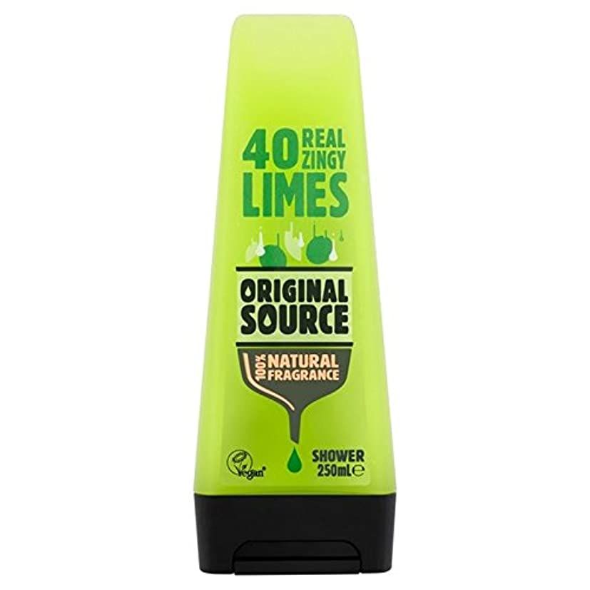 可決サイトラインイル元のソースライムシャワージェル250ミリリットル x2 - Original Source Lime Shower Gel 250ml (Pack of 2) [並行輸入品]