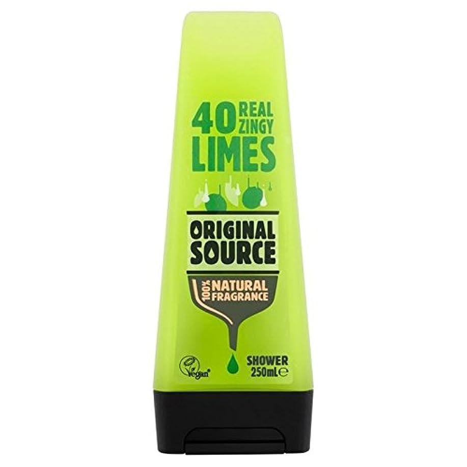 肉腫表現近々Original Source Lime Shower Gel 250ml - 元のソースライムシャワージェル250ミリリットル [並行輸入品]