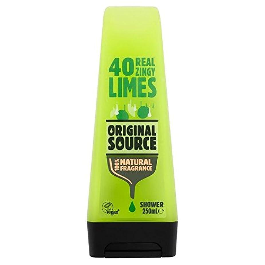 褐色布ログOriginal Source Lime Shower Gel 250ml (Pack of 6) - 元のソースライムシャワージェル250ミリリットル x6 [並行輸入品]