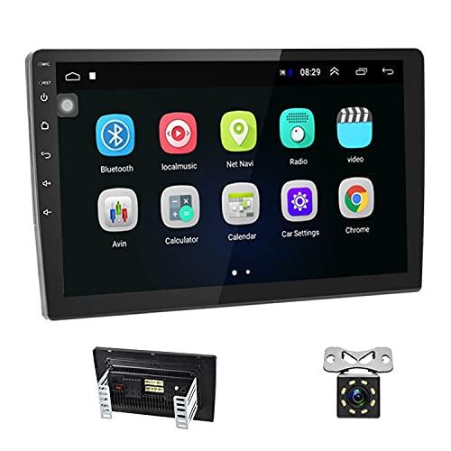 Autoradio 2 Din Android 8.1 GPS - Podofo 10.1 pouces HD Écran Tactile Audio au Tableau de Bord Audio Nav 1080p Lecteur Vidéo, 1G + 16G WiFi Bluetooth FM Radio Récepteur avec Caméra de Recul,Mirrorlink