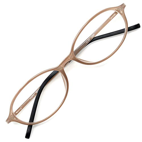 アイウェアエア 老眼鏡 おしゃれ レディース メンズ ブルーライトカット +0.5〜+3.5 4色 オーバル アッシュブラウン +1.00