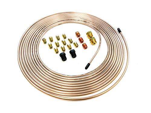 25 Feet of 3/16 Inch (4.75 mm) Copper Nickel Brake Line (.028