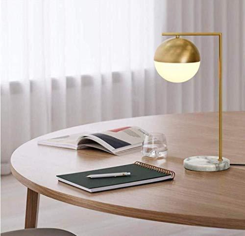 LCSD Lámpara de Mesa Lámpara de Escritorio Moderna Simple mármol Base hemisferio Vidrio lámpara Chapado labrado Lata de latón lámpara de Mesa, 1, a