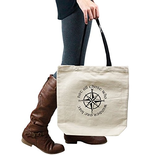 Not All Those Who Wander Are Lost LOTR Compass Tote Handbag Shoulder Bag Purse