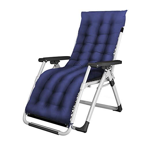 Bseack Chaise Longue, Design inclinable à 160 °, Tube en Acier Audacieux adapté à la Courbe du Corps Humain, démontage Pliable, Fauteuil Lounge, Chaise pour la Pause déjeuner (Couleur : Bleu)