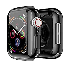 [Designed for Apple Watch 40mm] This case fit for Apple Watch series 6/SE/5 /4 40mm, high-quality TPU case with built in screen protector. [Precise cutout]: This 40mm watch case was designed with precise cutouts for functional buttons and ports. [Ult...