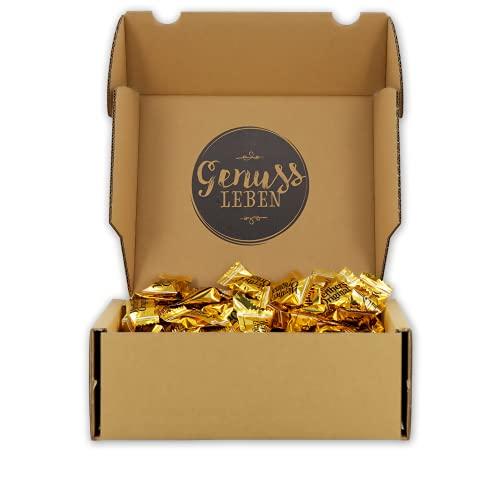 Genussleben Box mit Werthers Echte 1kg, Karamellbonbons, Süßigkeiten in Großpackung, Bonbons mit Karamell in Geschenkbox
