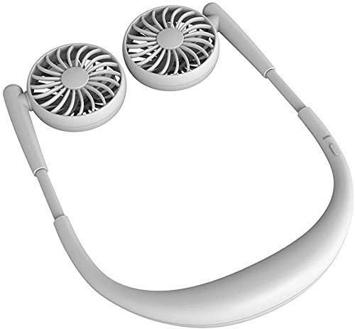 MAQRLT Hanging Neck Fan, USB aufladbare Neckband Faule Umhängen Stil Dual-Lüfter für Outdoor-Sport Style,Schwarz
