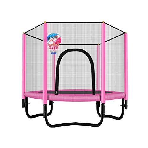 TRAMPOLINE Opvouwbare Mini, Fitness Met Veiligheidsmat, Stabiel En Rustig Sport Backboard, Geschikt voor Kinderen En Volwassenen Binnen/Tuin Oefening, 300 kg Gewicht