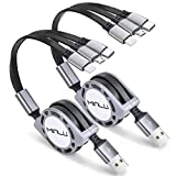 Minlu 4Ft/1.2m Multi Retractable Fast Charger Cord 3A,2Pack...