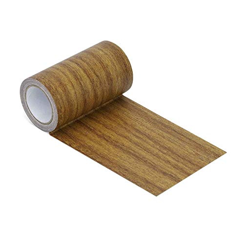 Azobur Repair Tape Patch 3.9' X15' Wood Textured Adhesive for Door Floor Table and Chair (Antique Oak #2)