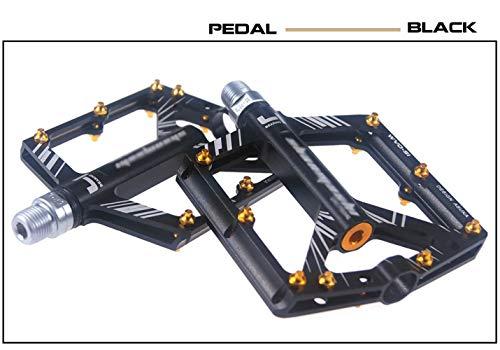 SPTIDY Acero al Cromo molibdeno 4 rodamientos, Pedales de Bicicleta Antideslizante con...