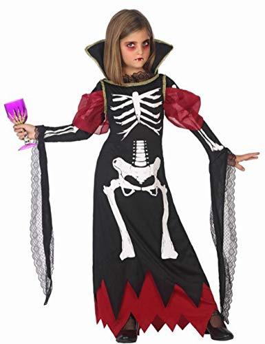 ATOSA disfraz vampiresa niña infantil esqueleto 5 a 6 años