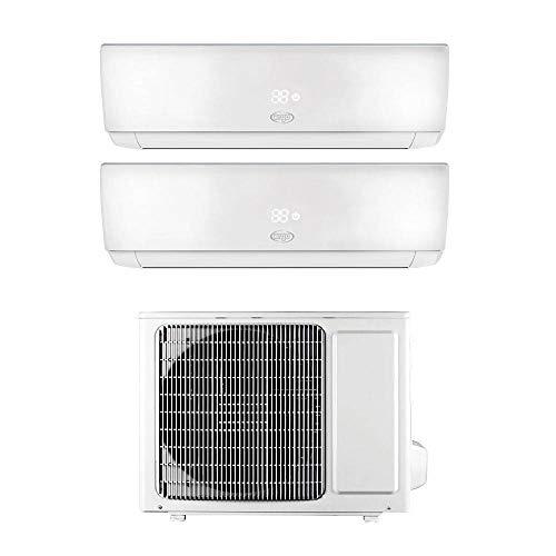 ARGO Ecowall 9 + 12 Climatizzatore Fisso, DC Inverter, con WiFi, con pompa di calore, Bianco, 9000 + 12000 BTU h