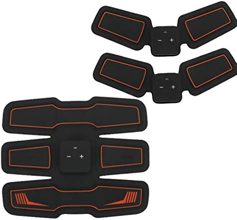 LUCKFY EMS Muskelstimulator, Neuer Upgrade ABS Trainer ABS Stimulator Bauchmuskeln Gürtel mit USB aufladbar