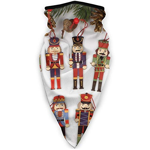 BJAMAJ Notenkraker Soldaat Kerst Decoratie Outdoor Gezicht Mond Masker Winddicht Sport Masker Ski Masker Sjaal Bandana Mannen Vrouw