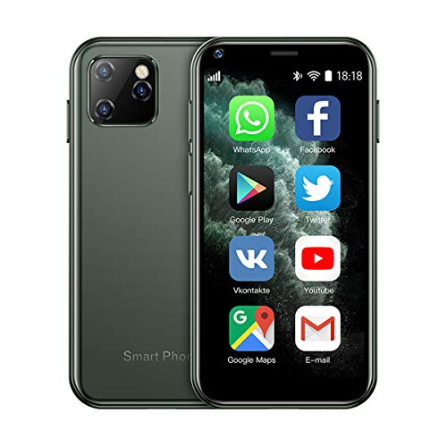 SOYES XS11 3G Mini Smartphone 2.5 Inch WiFi GPS RAM 1GB 8GB Core Android 6.0 Cell Phones Camera Dual Sim Google Play Cute Smartphone (Green)