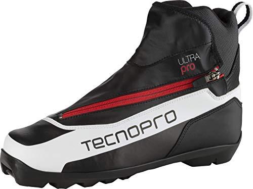 TECNOPRO Herren Langlauf-Schuh Ultra Pro Prolink Skilanglaufschuhe, weiß/Schwarz/Rot, 13