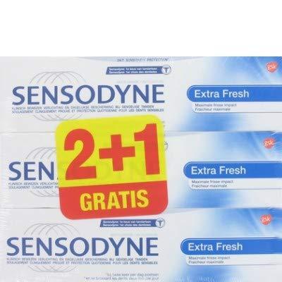 Sensodyne Tandpasta - Extra Fresh Triopak 3 x 75 ml