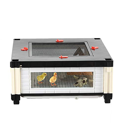 crapelles Small Poultry Cage Chicken Duckling Brooder Box Chick Coop Hamster Hedgehog My Neighbor Totoro Chinchillidae Chinchillas Habitat Accessories Indoor Pet Supplies Small Animal Starter Tank