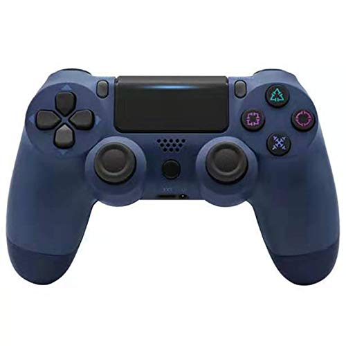 ERGGQAQ Gamepad Inalámbrico Bluetooth, Controlador PS4, con Barra luz LED y Panel Táctil, para Playstation 4 Pro/PC/Teléfono Celular/Tableta/Switch/Joystick Juego DualShock 4,Dark Blue
