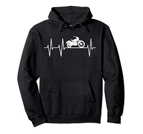 Motorrad Shopper Heartbeat Herzschlag Outfit Geschenk Biker Pullover Hoodie