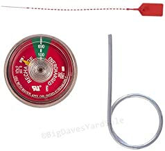 100 psi. Pressure Gauge, Seal & Pull Pin for Water Pressure Fire Extinguishers
