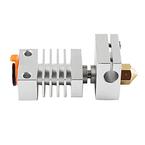 iFlymisi Heatsink All Metal Hotend Upgrade Kit for CR-10 / CR10S / Ender 3 / Ender 3 Pro PrintersHotend Titanium Heat Breaker 0.4mm MK8 Brass Nozzle