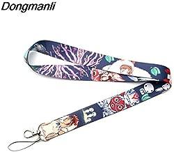 RedDoor_Hill Princess Mononoke Lanyards for Keychain ID Card Pass Gym Mobile Phone USB Badge Holder Hang Rope Lariat Lanyard