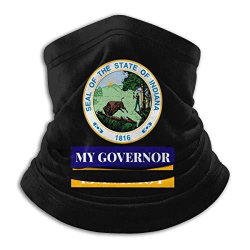 Lawenp My Governor is an Idiot Indiana Máscara a prueba de viento Bufanda de microfibra Cuello Calor Multi-Estilo Cuello BalaclavaAheaddressf Negro