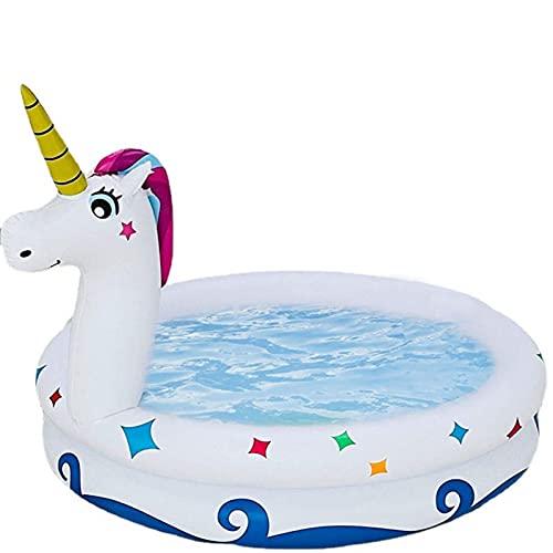 Aoten Piscina hinchable para niños, 120 cm, dibujos animados, para exteriores, verano, fiestas en el jardín, tamaño mediano, para bebés, piscina