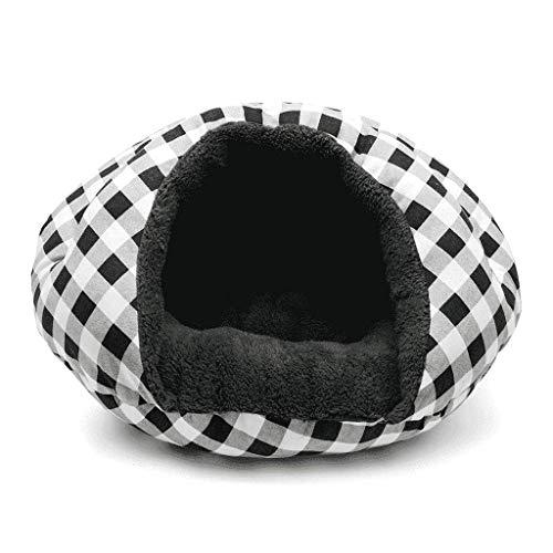 zwart en wit raster hamburger bed teddy hond bed huisdier benodigdheden dagelijkse benodigdheden tent luifel kat bed WHLONG