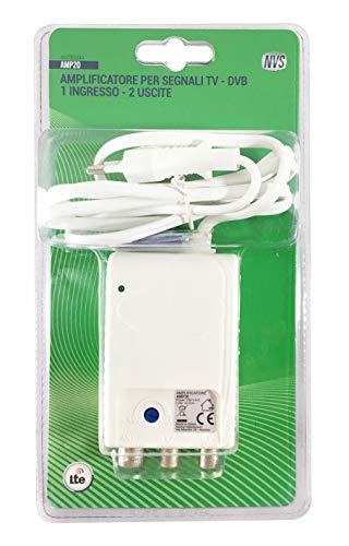 NVS AMP20 Amplificatore di segnale di antenna da interno per 2 uscite TV