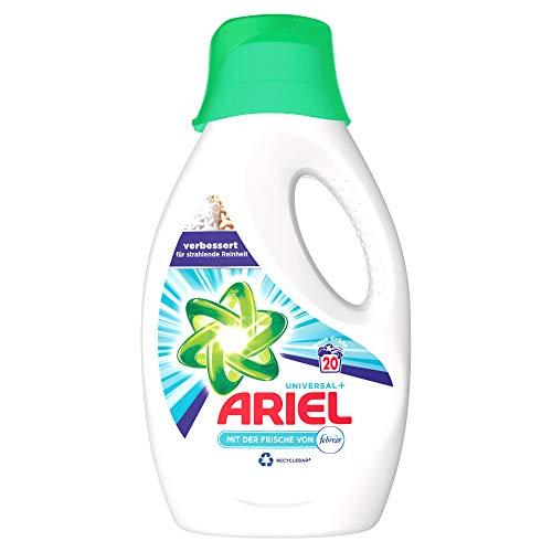 Ariel Waschmittel Flüssig, Flüssigwaschmittel Universal, Febreze Frische, 20 Waschladungen (1.1 L)