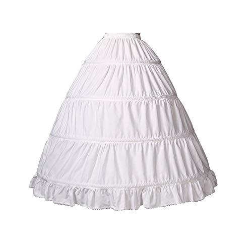 BEAUTELICATE Girls Petticoat 100% Cotton Crinoline Underskirt for Kids Flower Dress Slips 3 4 Hoops,Style 1-light Ivory,27''length-Fits(6-8)Years