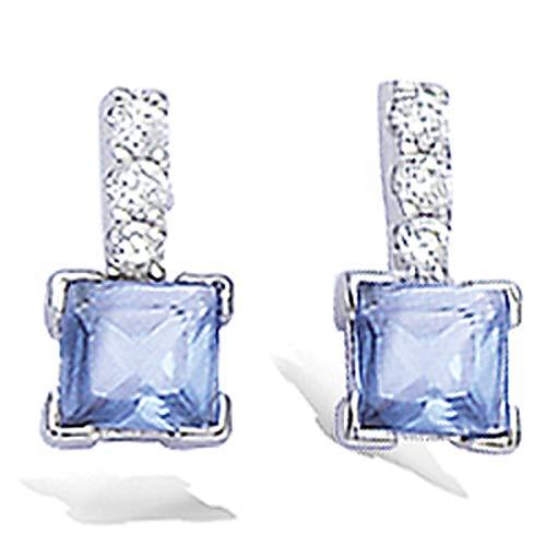 Pendientes de plata 'Celestina'azul.