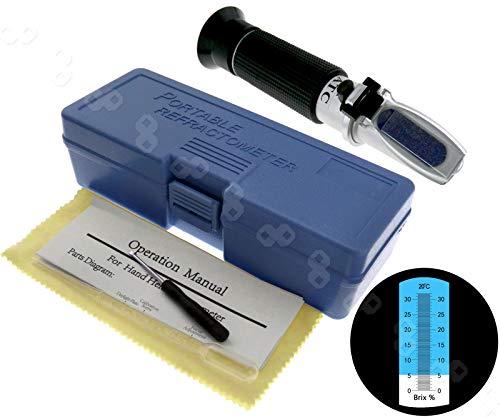Create Idea 0-32% Brix Zucker Refraktometer Wein Frucht Tragbar Tester Zuckergehalt Messgerät