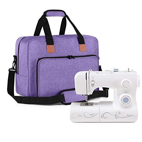 Luxja Bolsa para Máquina de Coser, Bolso Portátil para Máquina de Coser y los Accesorios de cosedora, Púrpura